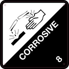 Impact Corrosive Sign Small 300mm x 300mm