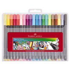 Faber-Castell Grip Fine Pen 0.4mm - Hard Case of 20
