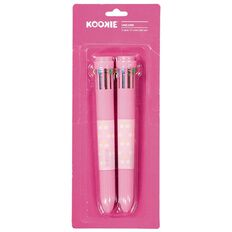 Kookie Unicorn 10 Colour Pen Pink 2 Pack