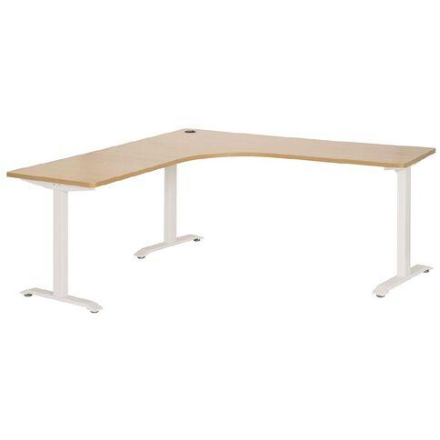 Jasper J Emerge Metal Leg Workstation 1800 x 600 Beech/White