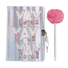 Kookie Bright Notebook & Pen Set With Lock Pink A5