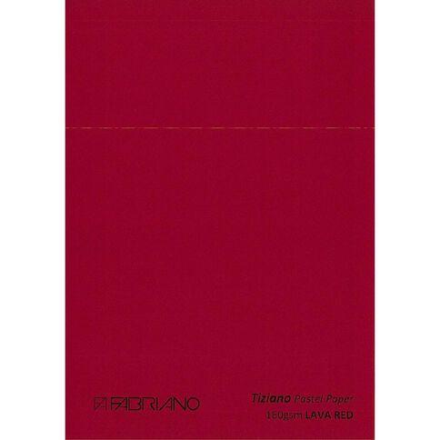 Fabriano Tiziano Pastel Paper 50cm x 65cm Lava Red