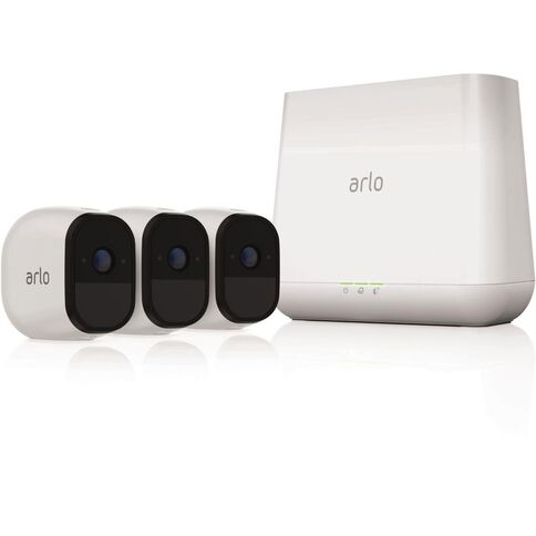 Netgear Vms4330 Arlo Pro Home Security 3 Camera System White