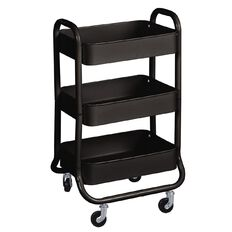 Workspace 3 Tier Trolley Black