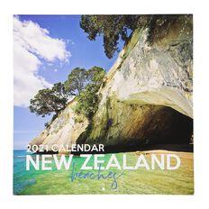 Bright Ideas 2021 Calendar New Zealand Beaches 290mm X 290mm