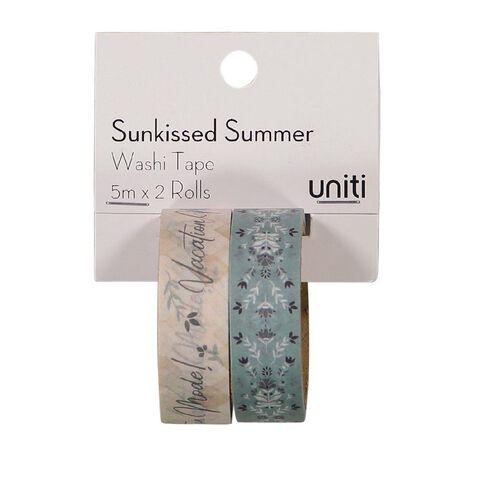 Uniti Sunkissed Summer Washi Tape Vacation Mode 2 Pack