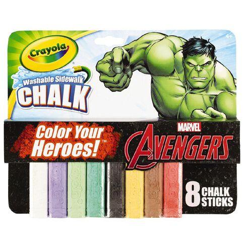 Avengers Crayola Hulk Chalk 8 Pack