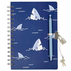 Kookie Sharks Moulded Notebook With Pen A5
