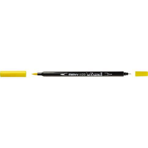 MARVY Le Plume II Dual Tip Marker Yellow