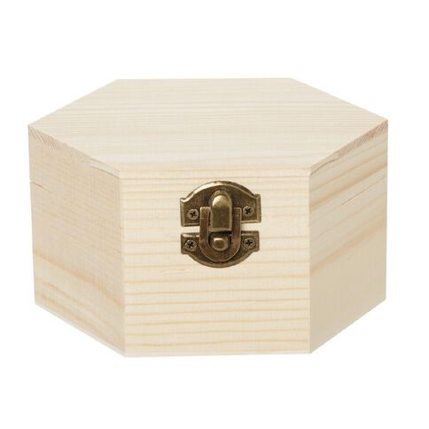 Uniti DIY Wooden Hexagonal Box With Hinge