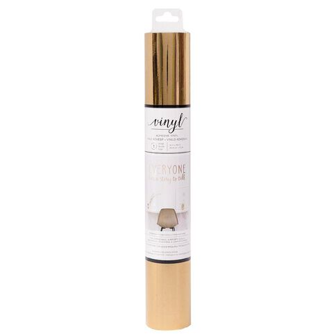 American Crafts Vinyl Rose Gold Adhesive Roll 12in x 48in