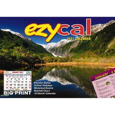 Bartel 2021 EzyCal Easy to Read Wall Calendar 304x215mm