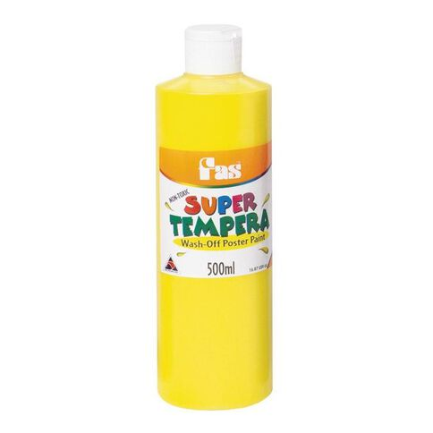 FAS Paint Super Tempera 500ml Yellow Yellow 500ml