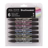Winsor & Newton Brushmarkers Pastel Tones 6 Pack