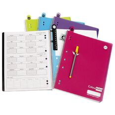 ColourHide Notebook Lecture Book 200 Page Assorted A4