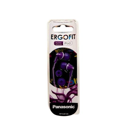 Panasonic Canal Styled Ergofit Earphones Rp-Hje125E-V Purple