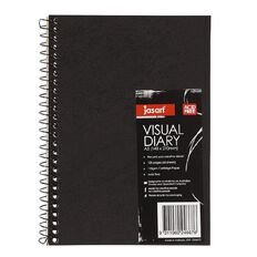 Jasart Visual Diary Spiral A5 110gsm 60 Sheet Black A5