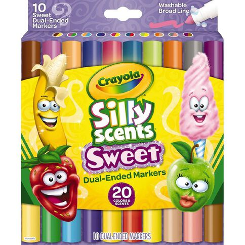 Crayola Silly Scents Sweet Dual Ended Markers 10 Pack