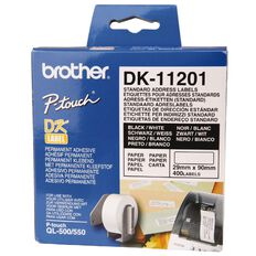 Brother Label Tape Dk11201 29mm x 90mm White