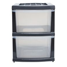 Taurus Storage Drawers 2 Tier Grey A3