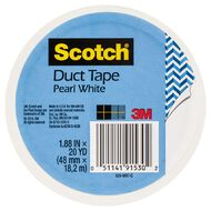 Scotch Coloured Duct Tape White 48mm x 18.2m