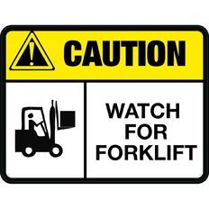 Impact Caution Watch For Forklift Sign Large 460mm x 610mm