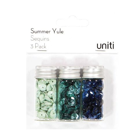Uniti Summer Yule Sequins 3 Pack