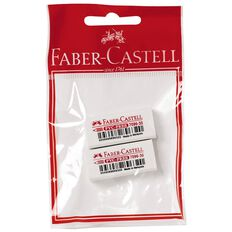 Faber-Castell Eraser PVC Free Medium 2 Pack White