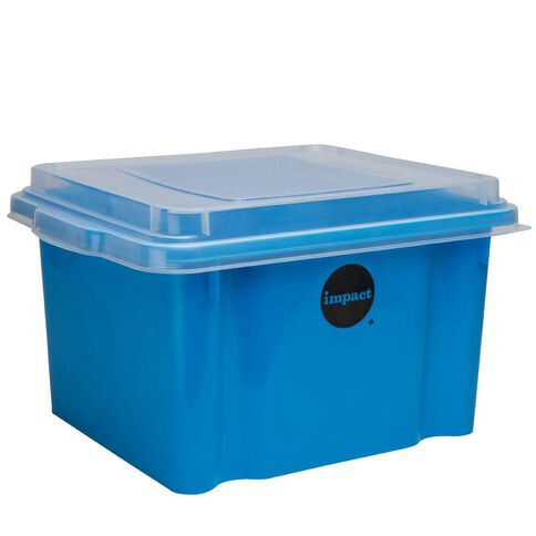 Impact Suspension File Box With Lid Blue