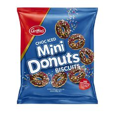 Griffin's Mini Donuts Biscuits Choc Iced 80g