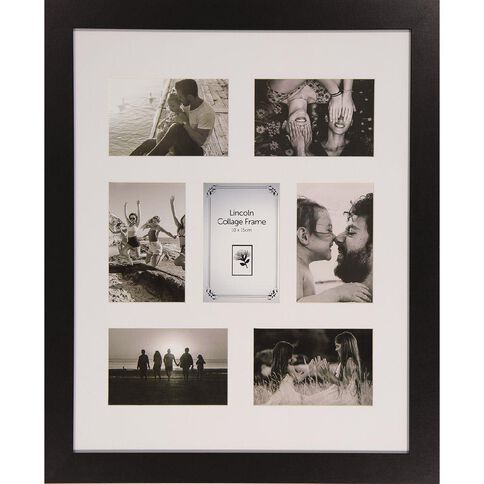 Uniti Milan Collage Frame Black 40 x 50cm Black