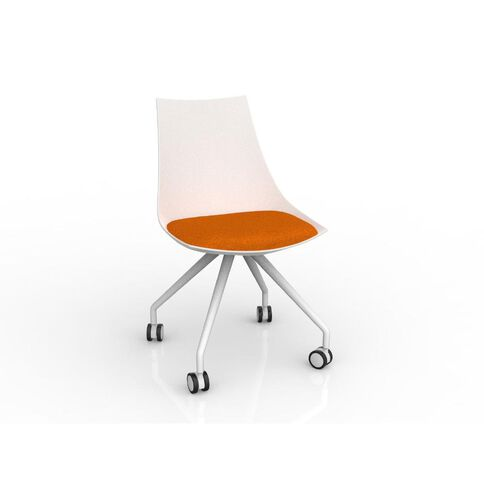 Luna White Sunset Orange Chair Orange