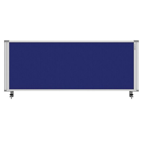 Boyd Visuals Desk Mounted Partition 1160W Blue