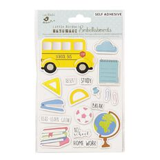 Little Birdie Lets Travel the World Sticker Embellishment 18 piece