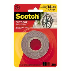 Scotch Permanent Outdoor Mounting Tape 4011