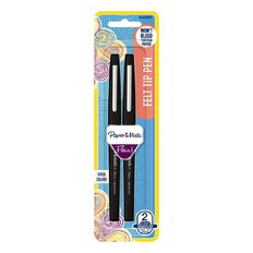 Paper Mate Flair Felt-Tip Pen Medium Black 2 Pack