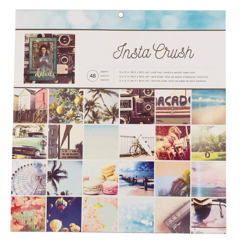 American Crafts Paper Pad Insta Crush 12in x 12in