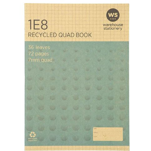 WS Recycle 1E8 Exercise Book
