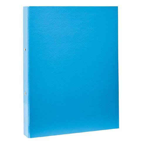 Card Ring Binder Blue Foolscap