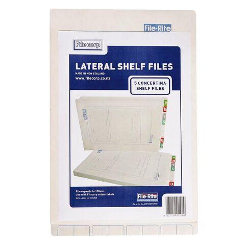 Filecorp 2016 Concertina Shelf File 5 Pack White