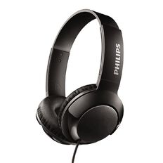 Philips On Ear Bass+ Headphones Black