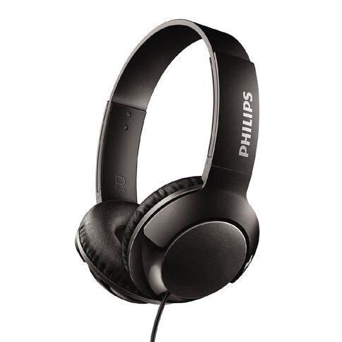 Philips On Ear Bass+ Headphones Black