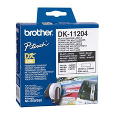 Brother Label Tape Dk-11204 17mm x 54mm White