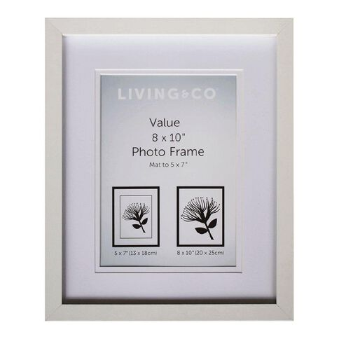 Living & Co Value Frame 5x7in or 8x10in White
