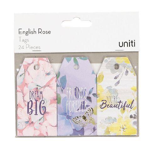Uniti English Rose Tag 24pc