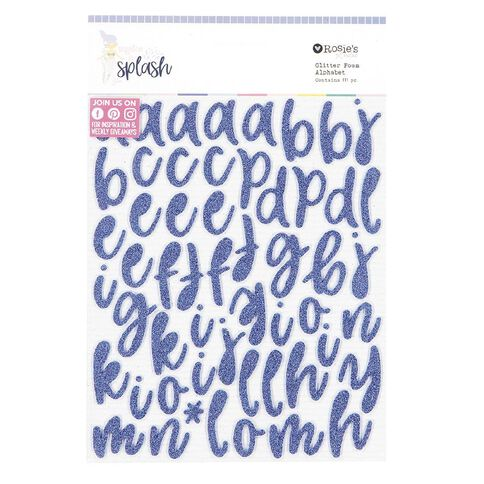 Rosie's Studio Make a Splash Glitter Foam Alphabet 2 Sheets