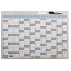 WS 2021 Year Planner 700x500mm Laminated With Whiteboard Marker
