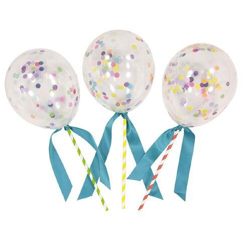 Artwrap Party Cake Topper Mini Balloon Confetti 3 Pack