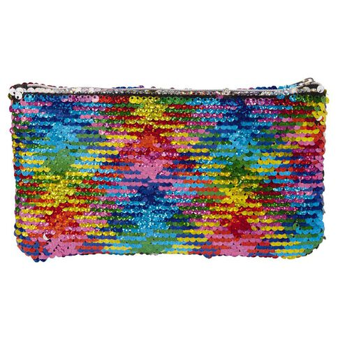 Kookie Sequin Pencil Case Colourful 11cm X 20cm