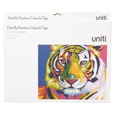 Uniti Paint By Numbers Colourful Tiger 400mm x 300mm